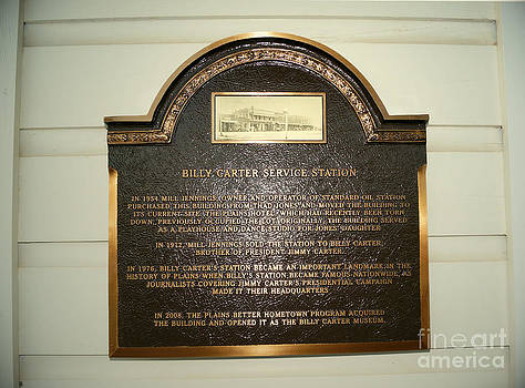 Billy Carter Service Station Plaque by Kim Pate