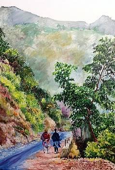Aditi Bhatt - Billy goats and blue path