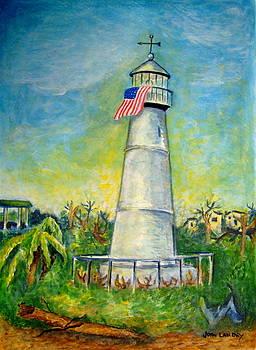 Biloxi Lighthouse  by Joan Landry