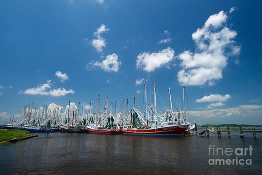 Biloxi shrimp fleet by Russell Christie