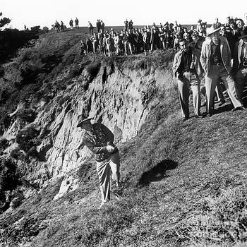 California Views Mr Pat Hathaway Archives - Bing Crosby playing in the rough at Pebble Beach circa 1958