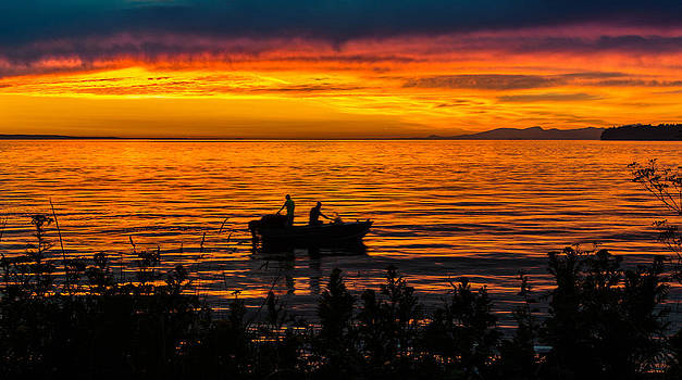 Birch Bay Fishing by Blanca Braun