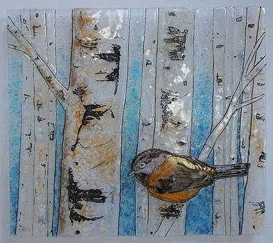 Birch Chickadee by Michelle Rial