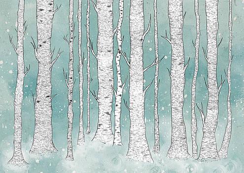 Birch Forest by Randoms Print