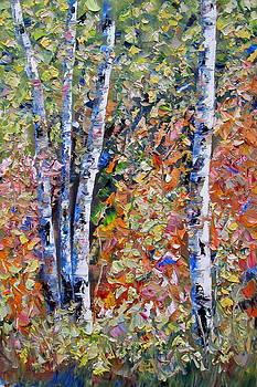 Birch Forest Two by Stephen Davis