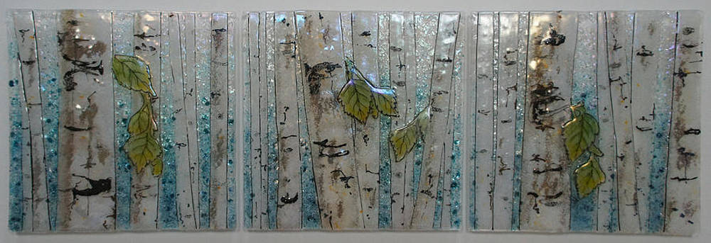 Birch Leave Cascade by Michelle Rial