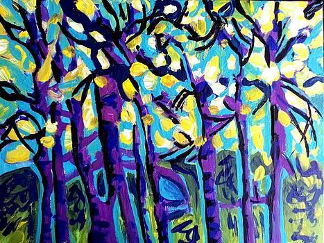 Nikki Dalton - Birch Trees Blue