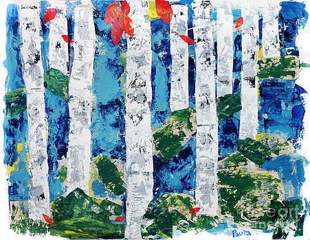 Birch Trees by Paula Drysdale Frazell