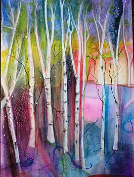 Birch Trees by Susan Boyes