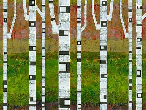 Michelle Calkins - Birch Trees with Green Grass