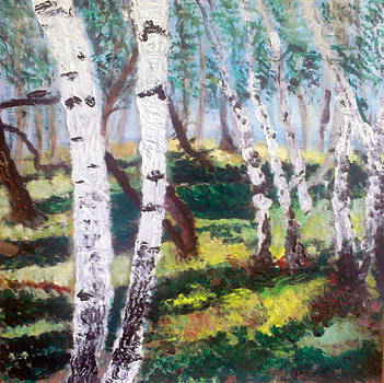 Birches  by Andrea Kucza