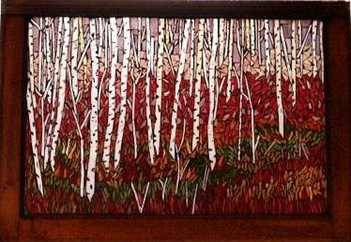Birches in the Fall - SOLD by Chris Heisinger