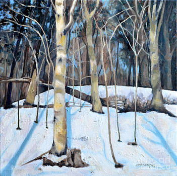 Birches in the Snow by Joan McGivney