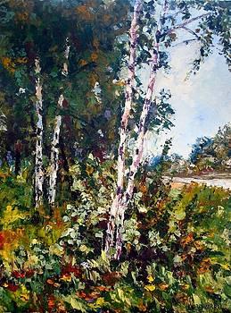 Birches .Russia by Olga Kurzanova