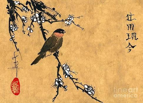 LINDA SMITH - Bird on White Plum Branch