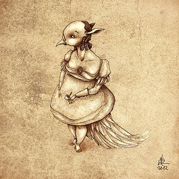 Bird Woman by Autogiro Illustration