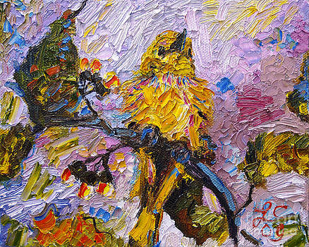Ginette Callaway - Bird Yellow Warbler Oil Painting