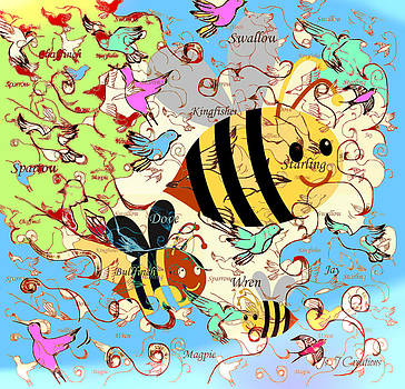 Birds and Bees by Jan Steadman-Jackson