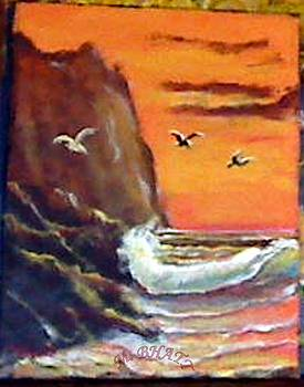 Birds and waves by M Bhatt
