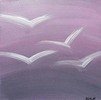Birds in Flight Purple by Kate McTavish