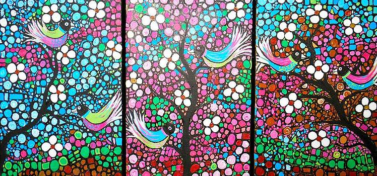 Birds in The Summer Breeze by Shirley Smith