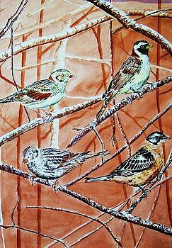 Birds In Tree by Linda Vaughon