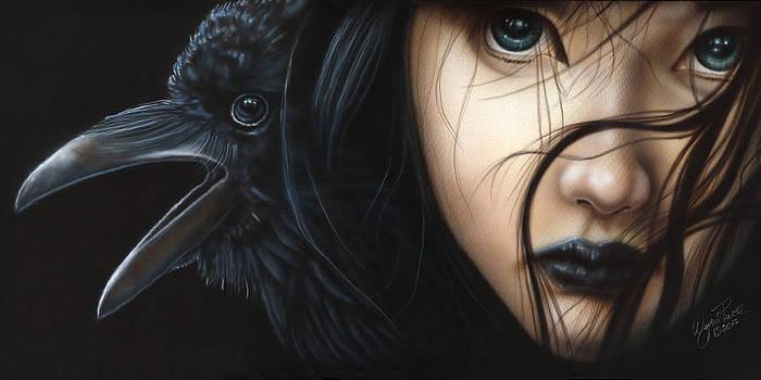 Birds of Prey- Raven by Wayne Pruse