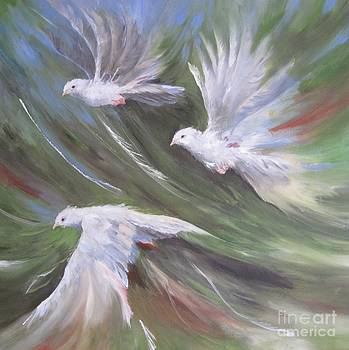Birds Three by Paula Marsh
