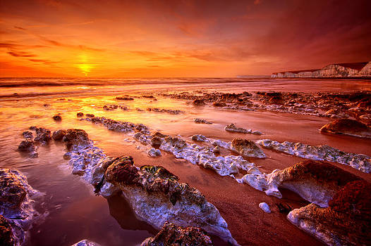 Birling Gap Sunset by Mark Leader