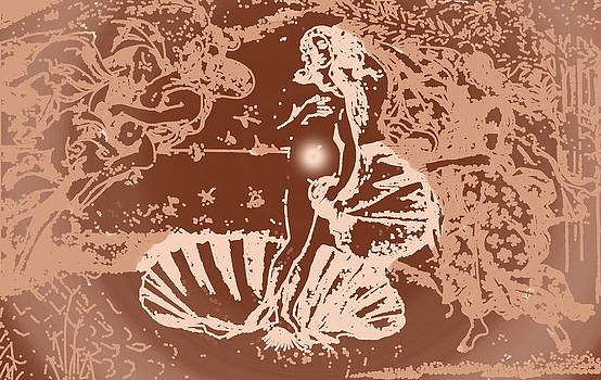 Birth of Venus in Copper by