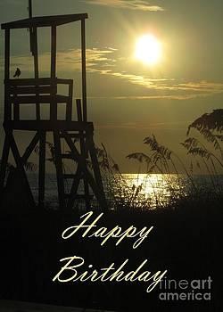 JH Designs - Birthday Beach Silhouette Sunrise