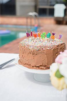 Birthday Cake For Children's Birthday by Gillian Vann