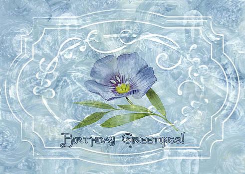 Sandra Foster - Birthday Greeting In Blue