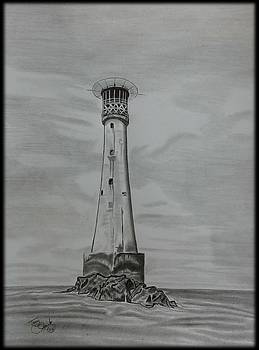 Bishops Rock Lighthouse by Tony Clark