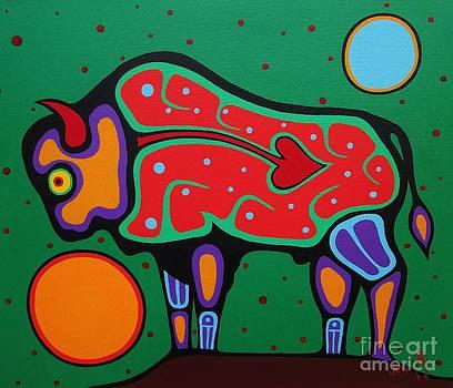Bison by Jim Oskineegish