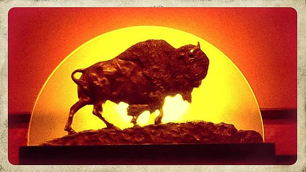 Bison statue by Ted Mahy
