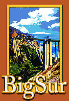 Bixby Bridge in Big Sur California by Michelle Scott