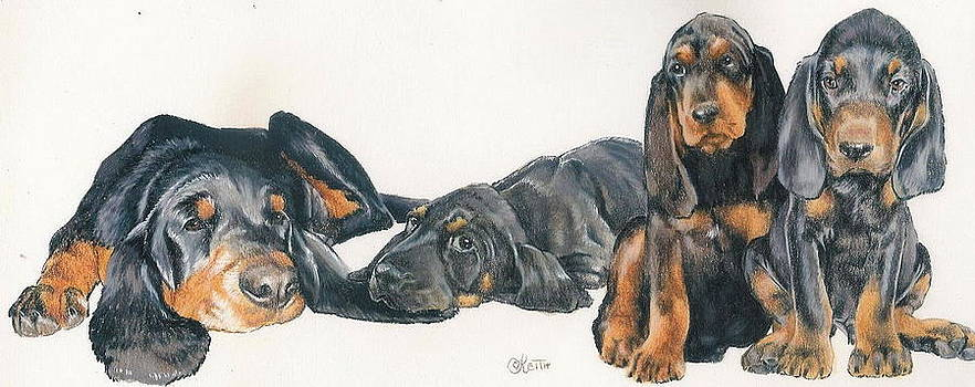 Barbara Keith - Black and Tan Coonhound Puppies