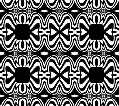 Pattern Black White Abstract Art No.301. by Drinka Mercep