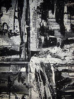 Black and White Abstract by Sheila Neeley