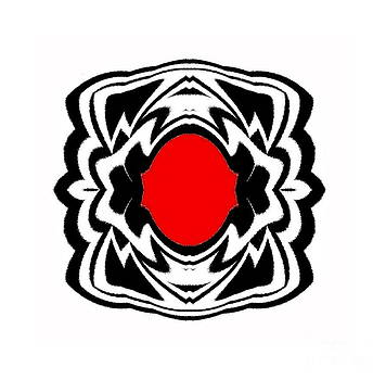 Drinka Mercep - Ornament Black White Red Art No.121.