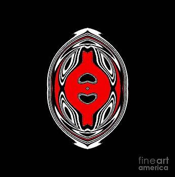 Drinka Mercep - Ornament Black White Red Art No.125.