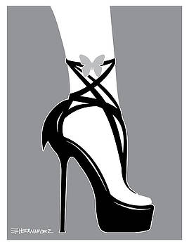 Black and White Fashionable Shoes by Ed Hernandez