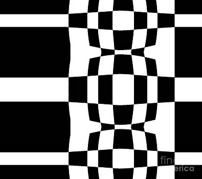 Geometric Abstract Black White Art No.277. by Drinka Mercep
