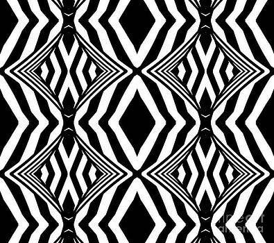 Pattern Black White Geometric No.307. by Drinka Mercep