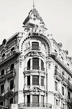 Angela Bonilla - Black and White Granada Ornate Building in Spain