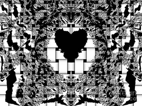 Drinka Mercep - Black and White Heart Art