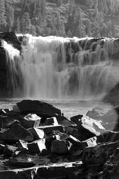 Connie Zarn - Black and White Kootenai Falls