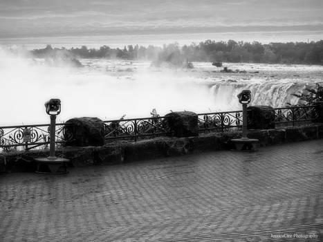 Black and White Niagara Falls by Jessica Cirz