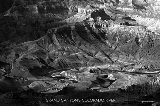 Black and White of the Grand Canyon's Colorado River by Martin Sullivan